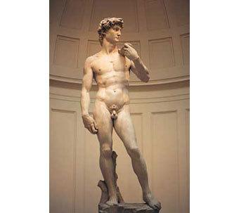скульптура Давида - шедевр гениального Микеланджело